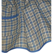 SALE Blue & White Plaid Handmade Apron