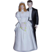 Bride & Groom Wedding Cake Topper ~ 1988 ~ MINT Condition