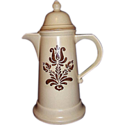 SALE Pfaltzgraff Village Tall Coffee Pot ~ Made in USA