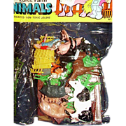 SALE Plastic Farm Animals ~ 23 Piece Unopened Package ~ Hand Painted ~Made in Hong ...