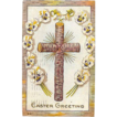 1911 Embossed Easter Wooden Cross Post Card