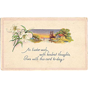 SALE 1919 Easter Wishes Post Card