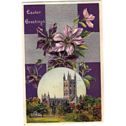 SALE 1912 Embossed Easter Cathedral Post Card ~ Printed in Germany