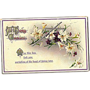 "SALE 1912 Embossed ""Easter Series"" Post Card No. 504 ~ Printed in Germany"