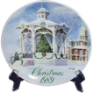 Vintage Christmas Smucker's Christmas Plate ~ 1989 David Coolidge Artwork
