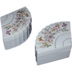 1980 Avon Porcelain Fan Shaped with Butterflies Trinket Boxes, Japan