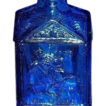 SALE Wheaton Blue Glass Paul Revere Bottle