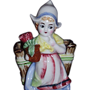 SALE Charming Dutch Girl Planter
