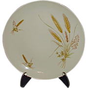 "SALE Winterling Bavarian China ""Wheat"" Set of 8 Salad Plates, 1940's"