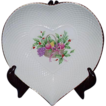 Vintage Christmas Mikasa Narumi Japan Heart Shaped Dish &quot;Christmas Spirit B2098&quot;