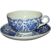 SALE Japanese Porcelain Phoenix Bird Cup and Saucer