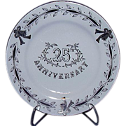 SALE Lefton Exclusives 25th Anniversary Plate ~ Silver Bells