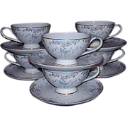 "SALE Imperial China ""Seville"" Japan ~ 6 Cup & Saucer Sets Grouping"