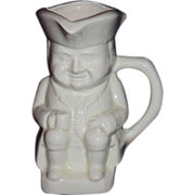 SALE Toby Pitcher or Mug ~ Seated Colonial Gent with Stein and Pipe