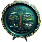 SALE Seattle Washington Souvenir Tray Kingdome Stadium, Made in Japan