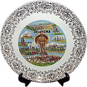SALE Oklahoma Will Rogers Souvenir Plate