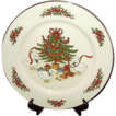 Vintage Christmas Plate ~ White Porcelain Ware ~ Japan