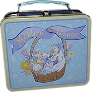 SALE Mother Goose Metal Lunch Box ~ Nursery Rhyme Characters