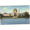 1943 Curteich Linen Postcard ~ Chicago Garfield Park, Lagoon and Administration Building