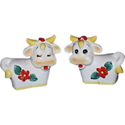 SALE Whimsical Cows Salt & Pepper Set ~ Made in Japan