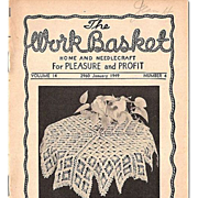 "SALE ""The Work Basket"" Grouping of 7 Home and Needlecraft Booklets 1948-1951"