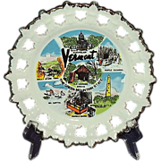 SALE Vermont Souvenir Plate, 1980, Made in Korea