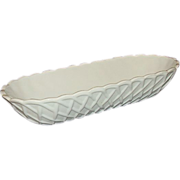 SALE Indiana Milk Glass Pretzel Pattern Celery Dish