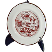 "SALE New Mexico Miniature Souvenir Plate ""The Land of Enchantment"""