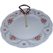 "SALE Royal Albert Bone China ""Tranquility"" Tidbit Plate, Center Handle"
