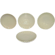 SALE Royal Court White Porcelain Butter Pats, Set of 4, Japan