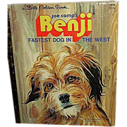 SALE 1978 Little Golden Book, Benji, Fastest Dog in the West ~ FREE Shipping in US