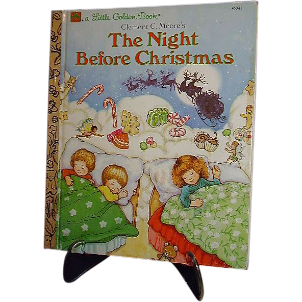 1987 Little Golden Book, The Night Before Christmas ~ FREE Shipping in US