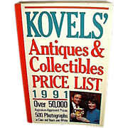 SALE Kovels' Antiques Collectibles Price List 1991, FREE Shipping in US