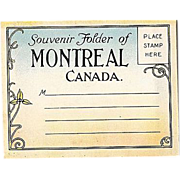 SALE Souvenir Photo Folder Montreal Canada 1920s Color Miniatures