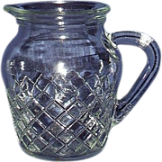 SALE EAPG Clear Syrup Pitcher Criss Cross Waffle Pattern