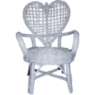 SALE Wicker Doll Chair Heart Back 9 Inches Tall Miniature