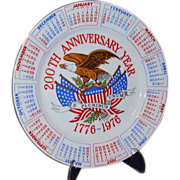 SALE 1976 Bicentennial Plate Red White Blue USA 200th Anniversary 1776-1976