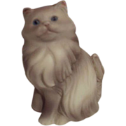SALE AVON Gray Persian Cat Figurine 1984 - FREE Shipping in US