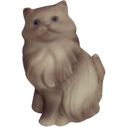 AVON Gray Persian Cat Figurine 1984 - FREE Shipping in US