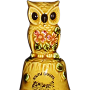 SALE Mount Rushmore SD Souvenir Bell, Adorable Owl, Made in Japan