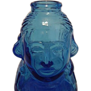 SALE Wheaton Glass Blue George Washington Collector Bottle