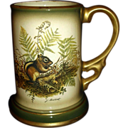 SALE 1977 Jim Beam Stein Mug Woodland Chipmunk by Lockhart ~ Regal China J-494