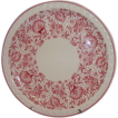 Syracuse Econo-Rim Restaurant Ware Dinner Plate ~ Rosy Red Florals
