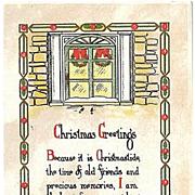 SALE 1917 Embossed Christmas Postcard