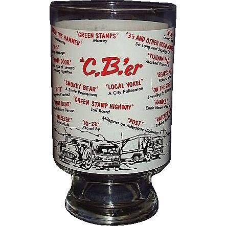 Radio 1970 1970s cb Radio Beer Glass With
