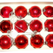 Vintage Christmas Rauch Industries Pyramid RED Glass Ornaments ~ FREE SHIPPING IN US