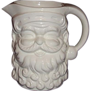 Santa White Ceramic Pitcher ~ 5 Inches