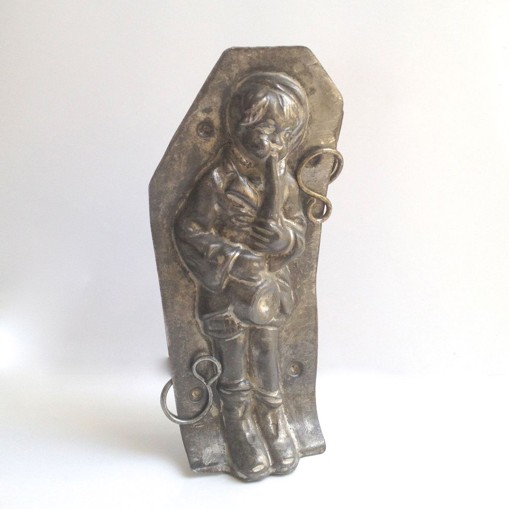 Circa 1934 French Chocolate Mold LeTang Fils Saxophone Player