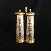 SOLD Lenox Salt & pepper Grinder c1980s with 24K Gold Decoration