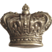 Sterling Silver Large Crown Brooch